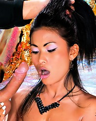 Asian beauties in a foursome orgy with these guys going mad
